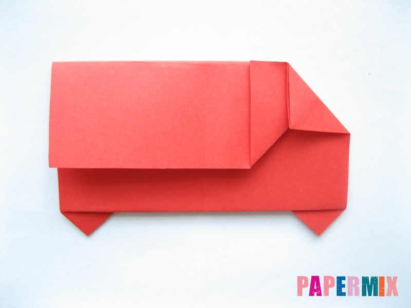 Как сделать самосвал из бумаги (оригами) своими руками - шаг 9