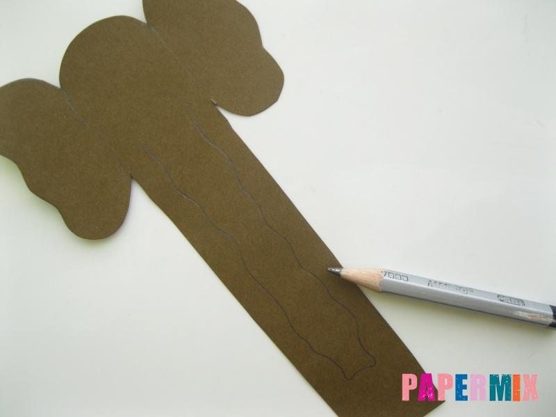 Как сделать носатую закладку слона из бумаги своими руками - шаг 4