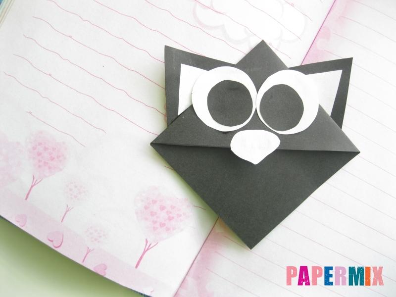 Как сделать закладку кота из бумаги своими руками - шаг 10