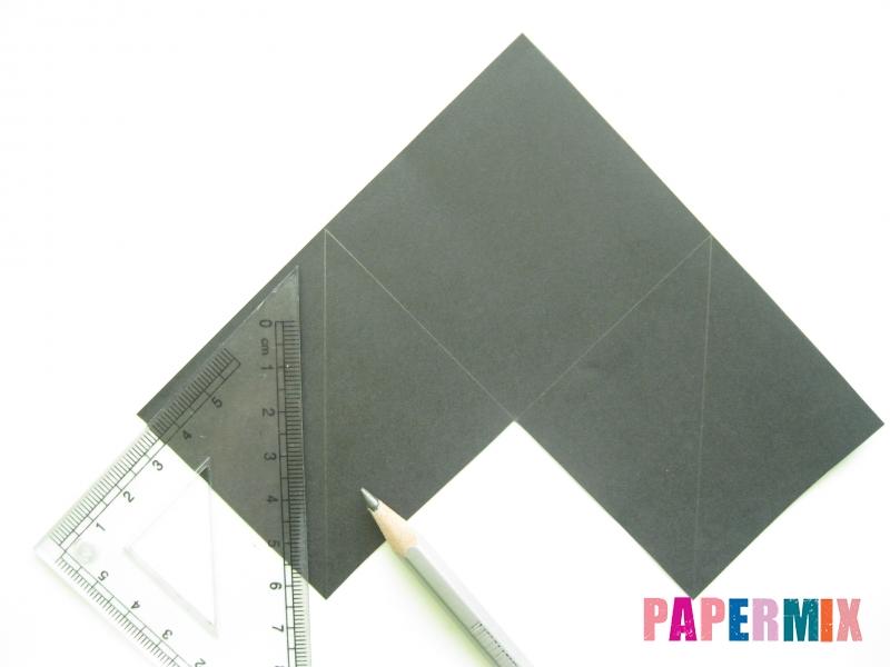 Как сделать закладку кота из бумаги своими руками - шаг 2