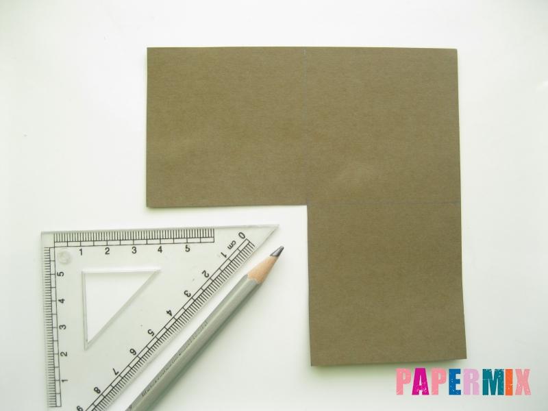 Как сделать закладку мишку из бумаги своими руками - шаг 2