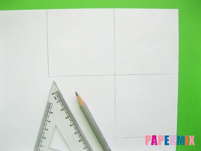 Как сделать закладку панду из бумаги своими руками - шаг 1