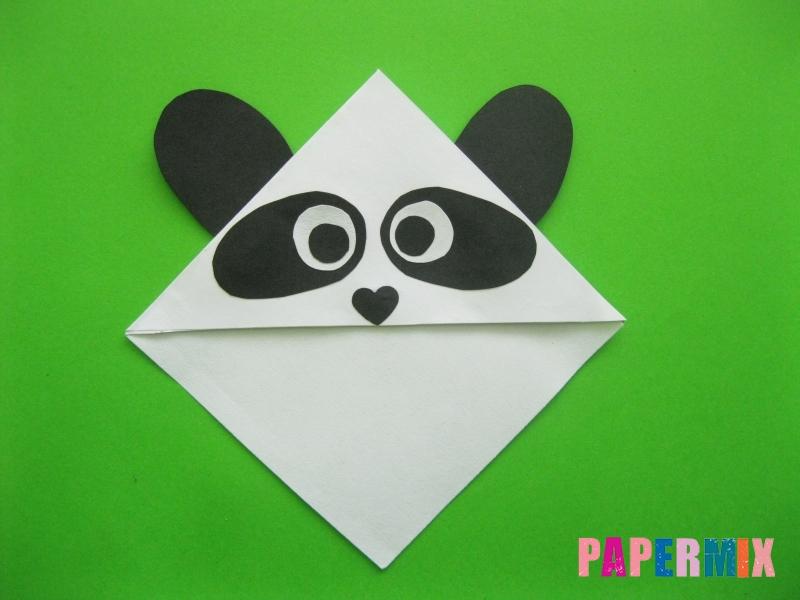 Как сделать закладку панду из бумаги своими руками - шаг 11