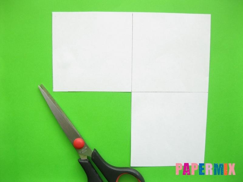 Как сделать закладку панду из бумаги своими руками - шаг 2