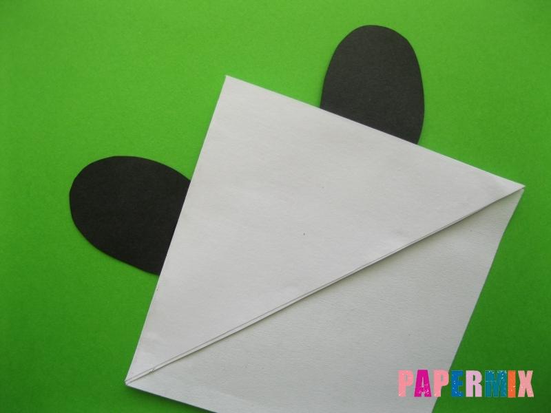 Как сделать закладку панду из бумаги своими руками - шаг 8