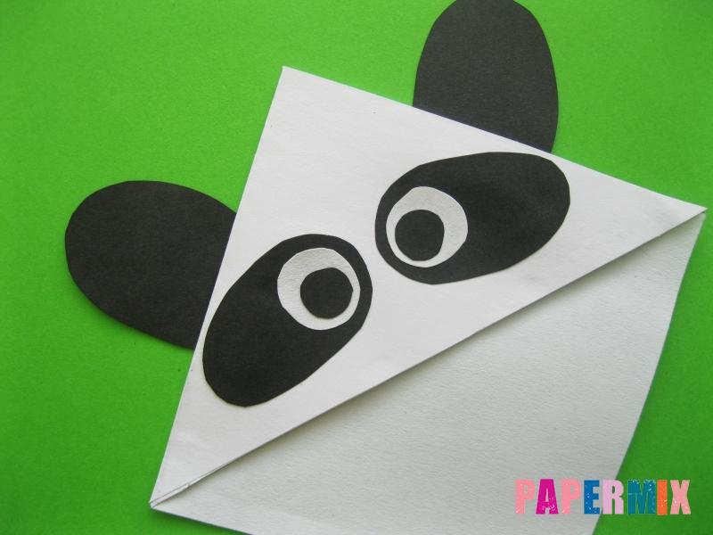 Как сделать закладку панду из бумаги своими руками - шаг 9