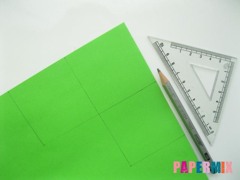 Как сделать закладку в форме лягушки из бумаги - шаг 1