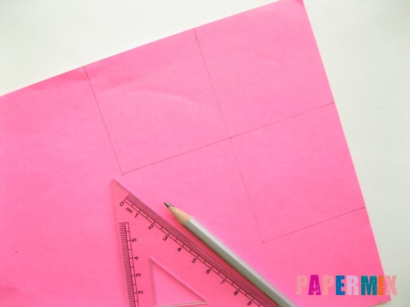 Как сделать закладку в форме зубастого монстра из бумаги - шаг 1