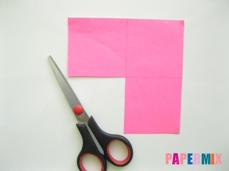 Как сделать закладку в форме зубастого монстра из бумаги - шаг 2