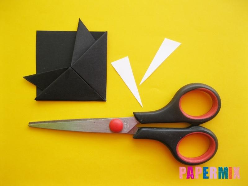 Как сделать закладку в виде енота из бумаги поэтапно - шаг 11
