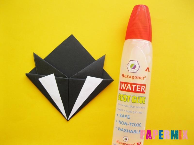Как сделать закладку в виде енота из бумаги поэтапно - шаг 12