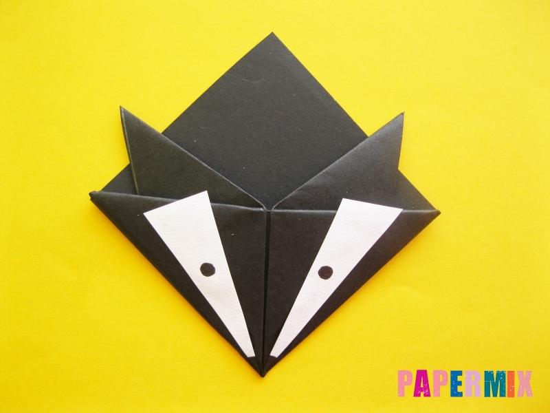 Как сделать закладку из бумаги в виде енота для книги своими руками