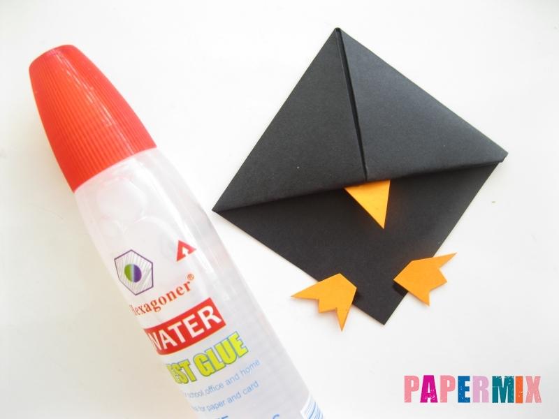 Как сделать закладку в виде пингвина из бумаги поэтапно - шаг 11