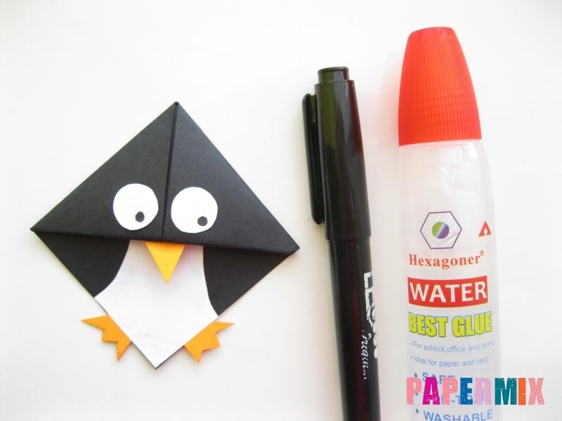 Как сделать закладку в виде пингвина из бумаги поэтапно - шаг 13