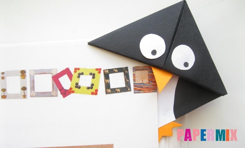 Как сделать закладку для книг в виде забавного пингвина
