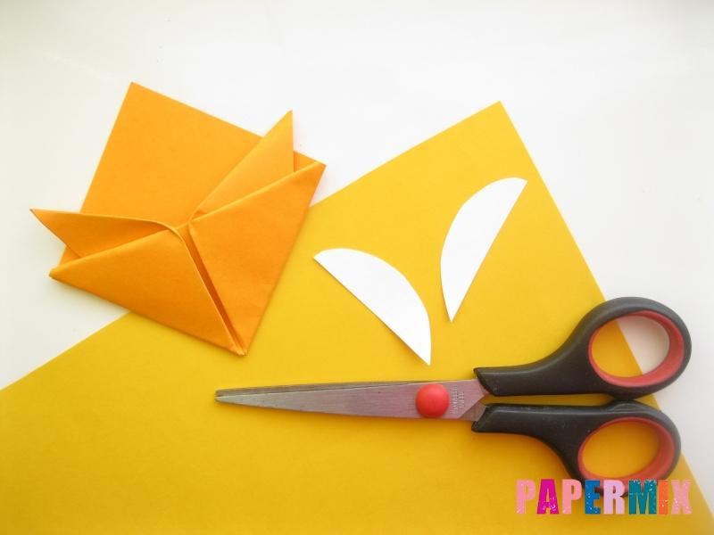 Как сделать закладку виде мордочки лисички из бумаги - шаг 12