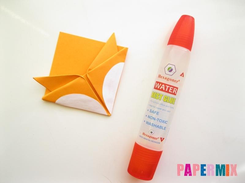 Как сделать закладку виде мордочки лисички из бумаги - шаг 13