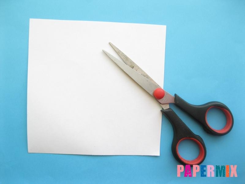 Как сделать закладку зайчик из бумаги поэтапно - шаг 1