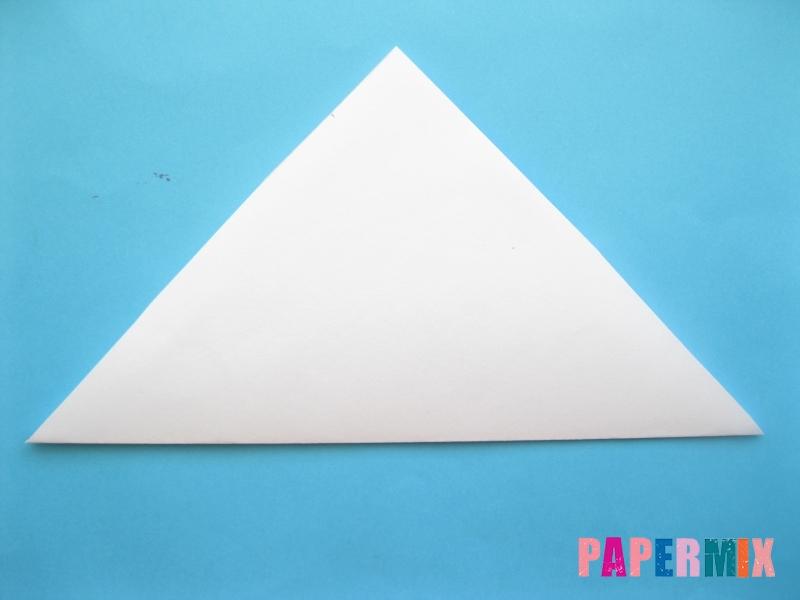 Как сделать закладку зайчик из бумаги поэтапно - шаг 3