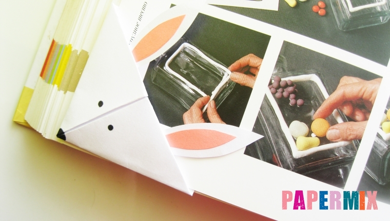 Как сделать закладку из бумаги в форме зайчика для книги своими руками