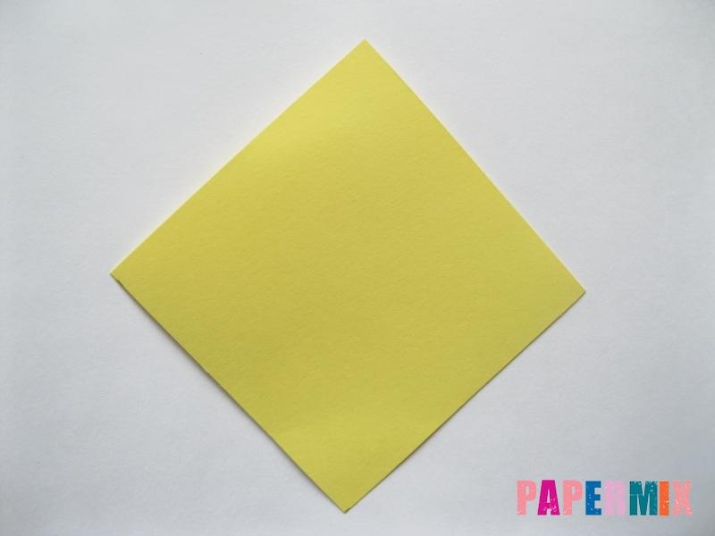 Как просто сделать лисичку из бумаги поэтапно - шаг 1