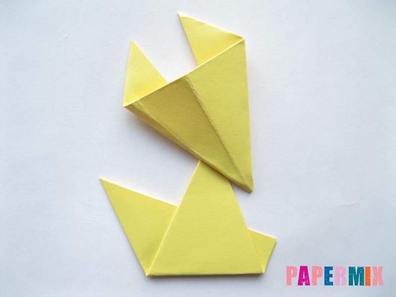 Как просто сделать лисичку из бумаги поэтапно - шаг 12