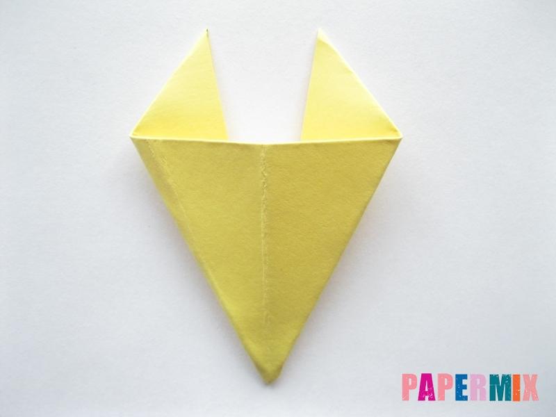 Как просто сделать лисичку из бумаги поэтапно - шаг 7