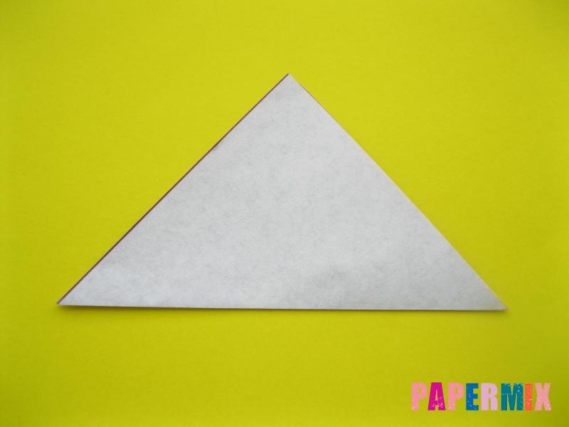 Как сделать аиста из бумаги (оригами) поэтапно - шаг 1