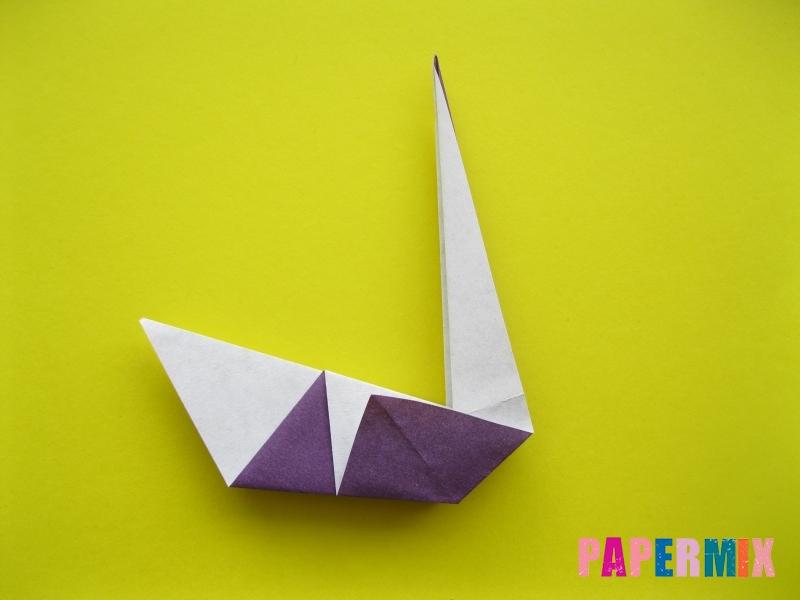 Как сделать аиста из бумаги (оригами) поэтапно - шаг 12
