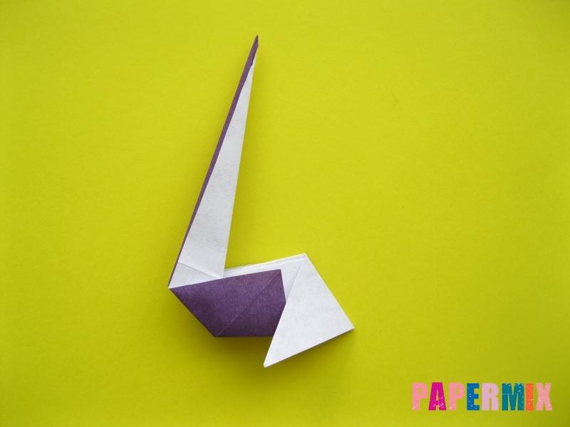 Как сделать аиста из бумаги (оригами) поэтапно - шаг 13