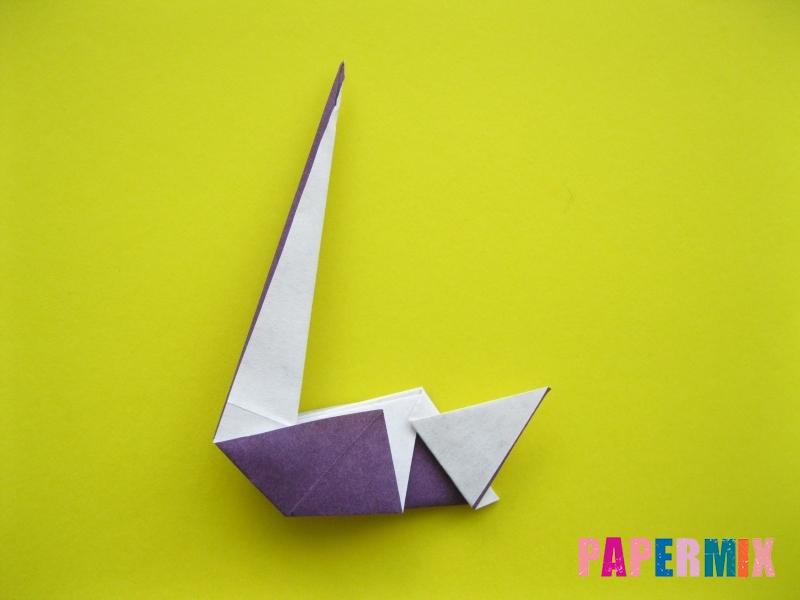 Как сделать аиста из бумаги (оригами) поэтапно - шаг 14