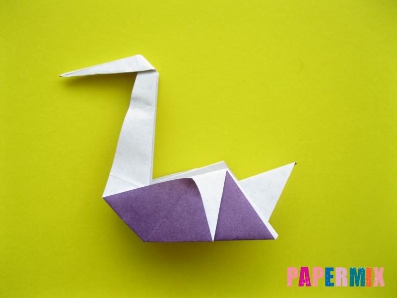 Как сделать аиста из бумаги (оригами) поэтапно - шаг 18