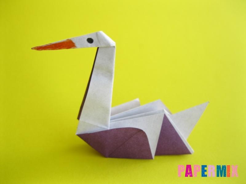 Как сделать аиста из бумаги (оригами) поэтапно - шаг 20