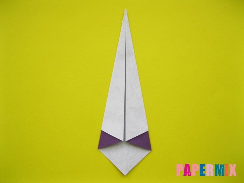 Как сделать аиста из бумаги (оригами) поэтапно - шаг 4