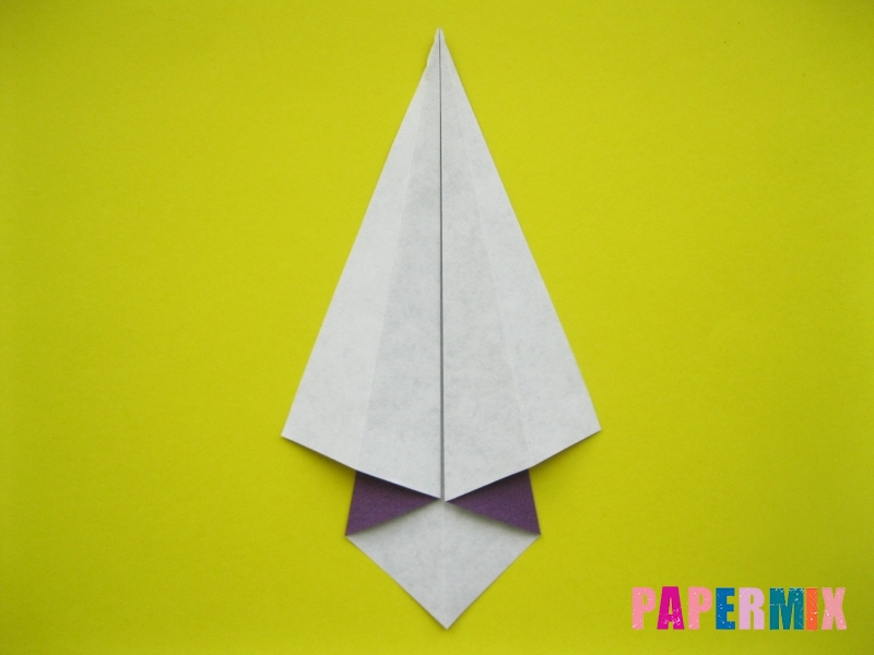 Как сделать аиста из бумаги (оригами) поэтапно - шаг 5