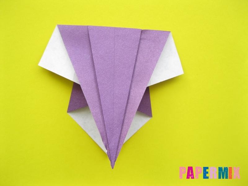 Как сделать аиста из бумаги (оригами) поэтапно - шаг 6