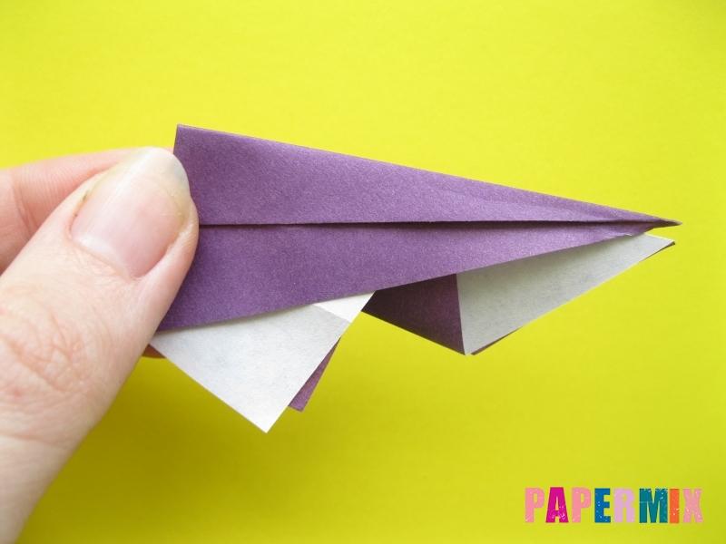 Как сделать аиста из бумаги (оригами) поэтапно - шаг 7