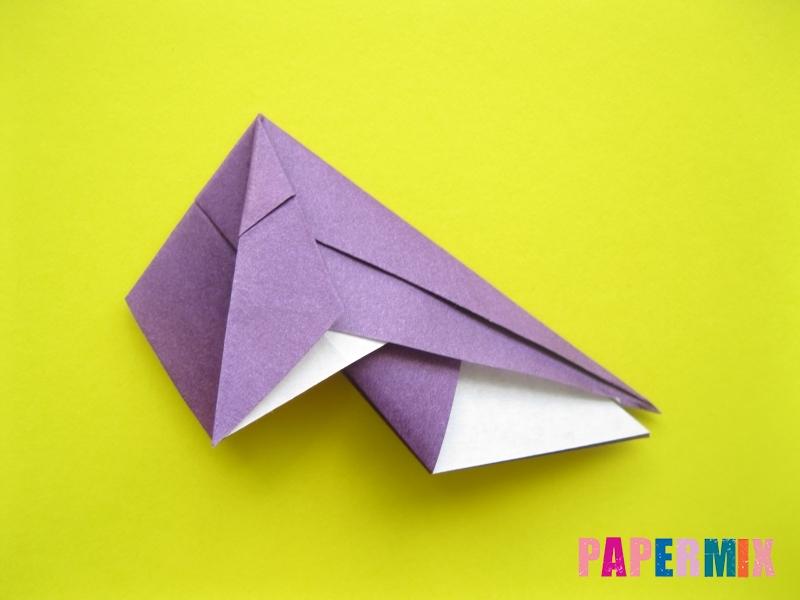 Как сделать аиста из бумаги (оригами) поэтапно - шаг 8