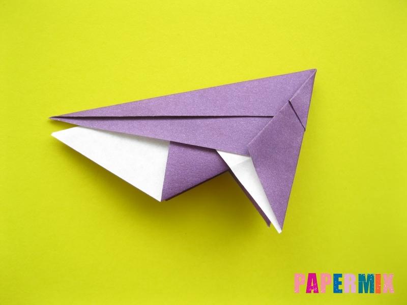 Как сделать аиста из бумаги (оригами) поэтапно - шаг 9