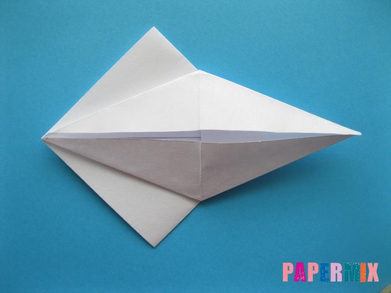 Как сделать акулу из бумаги (оригами) поэтапно - шаг 10