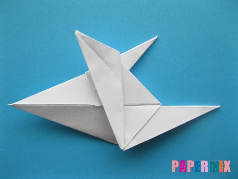 Как сделать акулу из бумаги (оригами) поэтапно - шаг 15