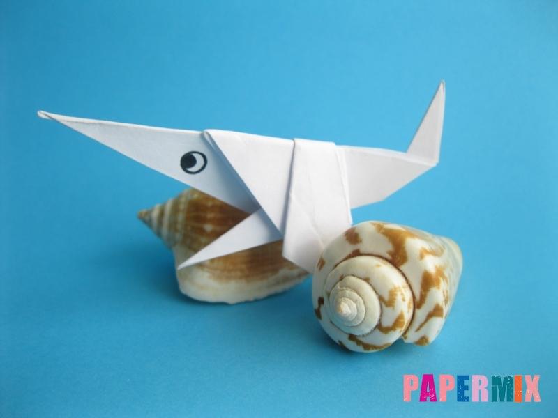 Как сделать акулу из бумаги (оригами) поэтапно - шаг 19