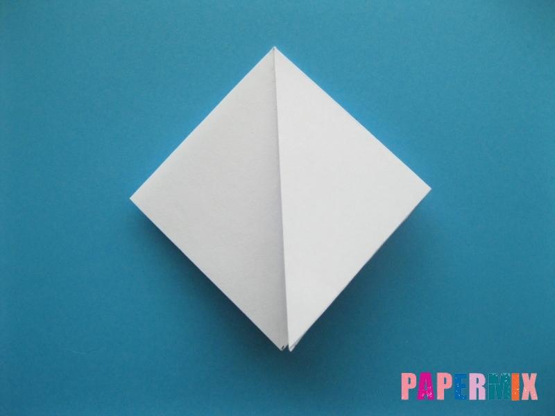 Как сделать акулу из бумаги (оригами) поэтапно - шаг 6