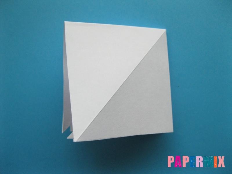 Как сделать акулу из бумаги (оригами) поэтапно - шаг 7