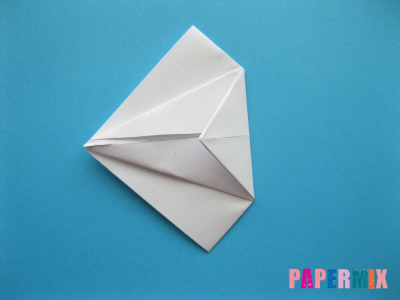 Как сделать акулу из бумаги (оригами) поэтапно - шаг 8