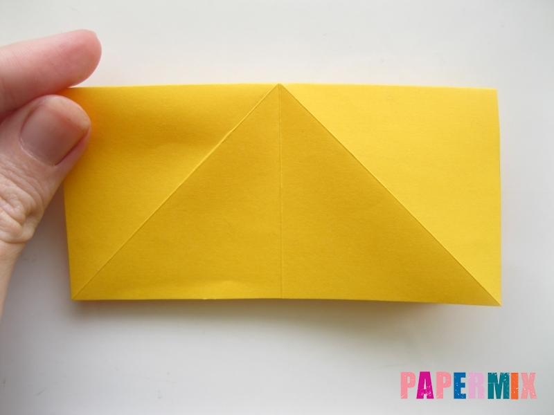 Как сделать бабочку из бумаги поэтапно - шаг 2