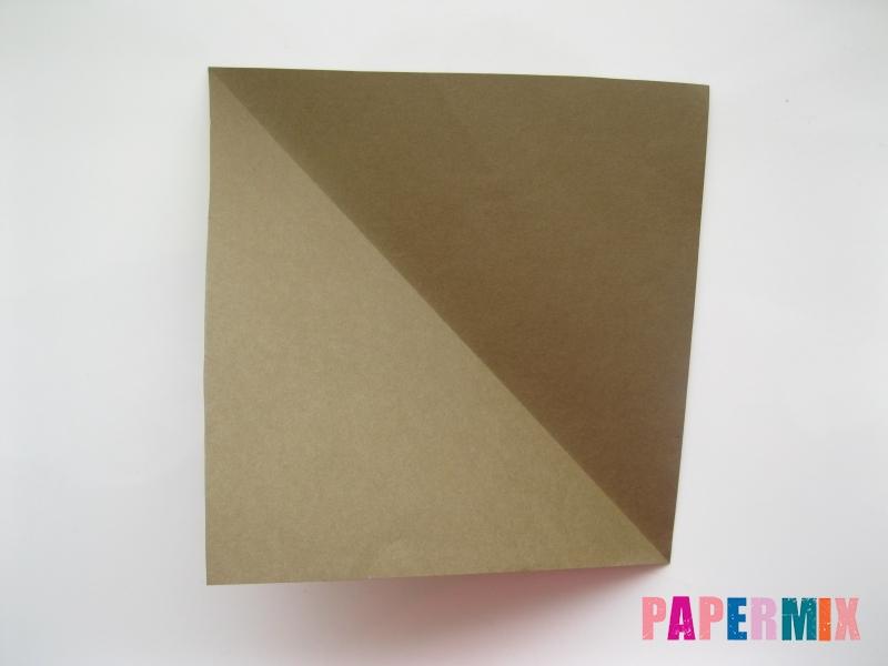Как сделать бегемота из бумаги (оригами) поэтапно - шаг 1