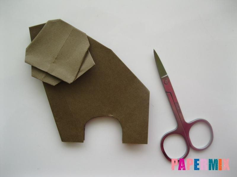 Как сделать бегемота из бумаги (оригами) поэтапно - шаг 12