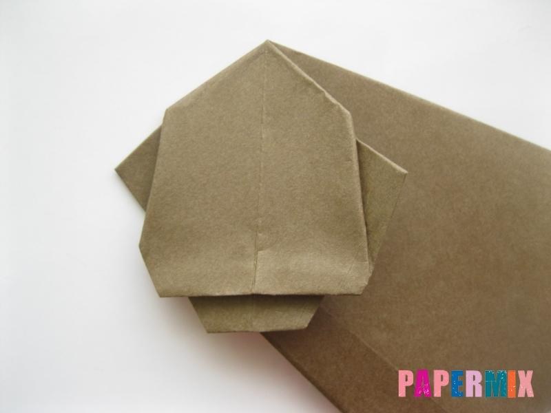 Как сделать бегемота из бумаги (оригами) поэтапно - шаг 8