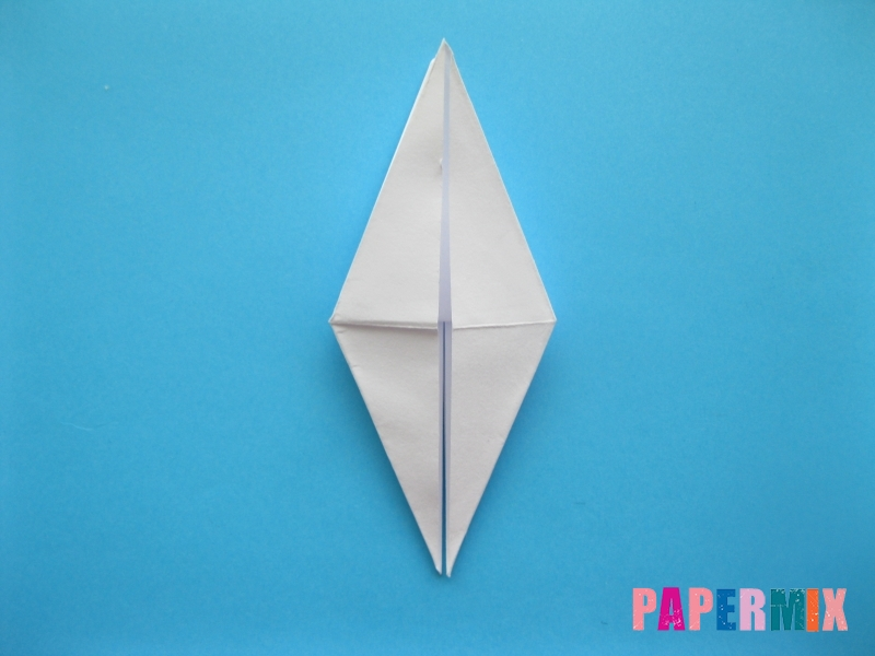 Как сделать цаплю из бумаги (оригами) поэтапно - шаг 10